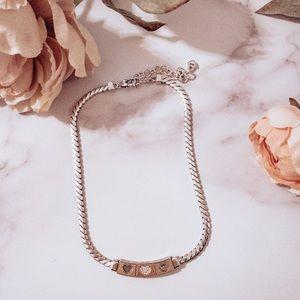 Brighton Triple heart necklace Pave Crystals